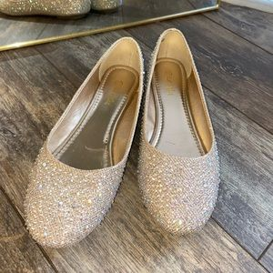 Extremely glittery slippers